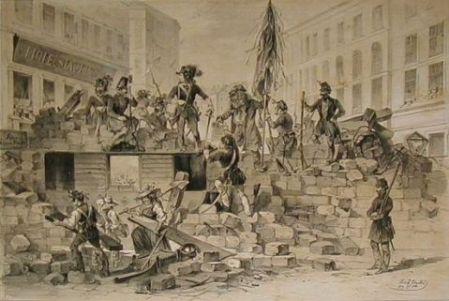 Barrikade am 26. und 27 Mai 1848 in Wien József Heicke (1811-1861)