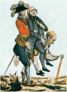Der Dritte Stand trägt Adel und Klerus 1788