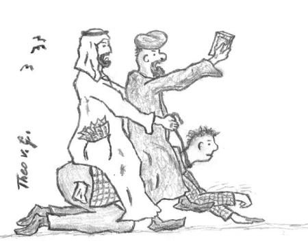der europäer trägt ölscheichs und imame 2013