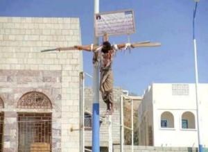 Ägypten 2012 Kreuzigung, weil er vom Islam zum Christentum übergetreten ist