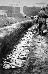 1945 KZ Mauthausen, Massengrab