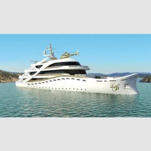 Kitsch-Yacht eines reichen Scheichs