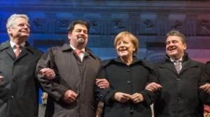 6 Gauck, Merkel, Gabriel mit ihrem islamischen Chef