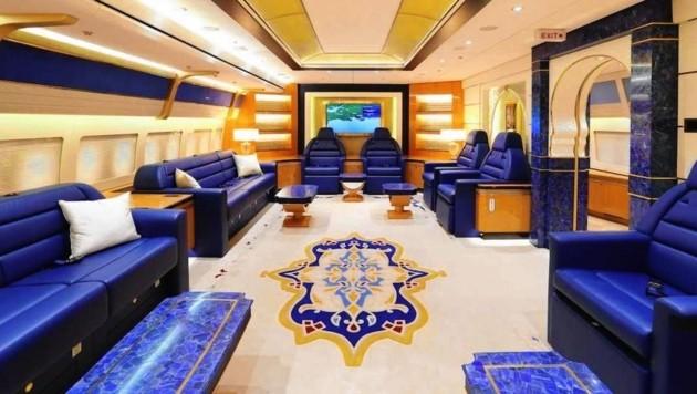 al-Thani Flugzeug innen