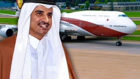 al-Thani mit seinem Flugzeug
